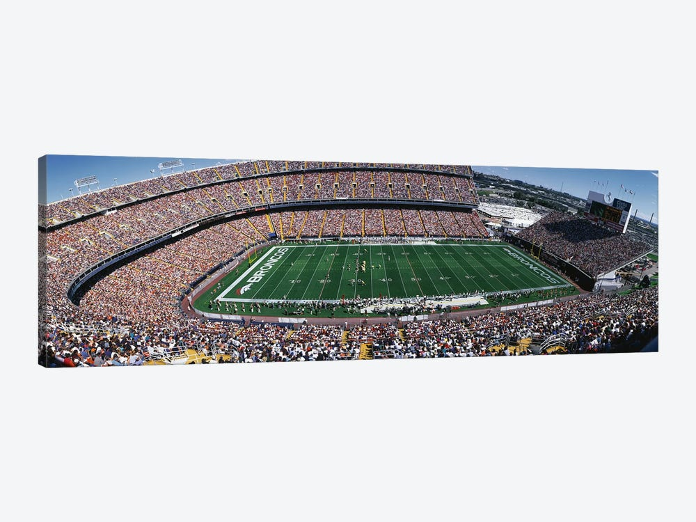 Sold Out Crowd at Mile High Stadium by Panoramic Images 1-piece Canvas Art