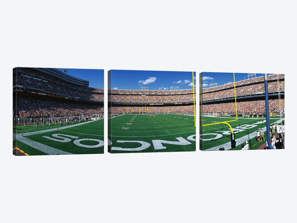 Mile High Stadium by Panoramic Images 3-piece Art Print