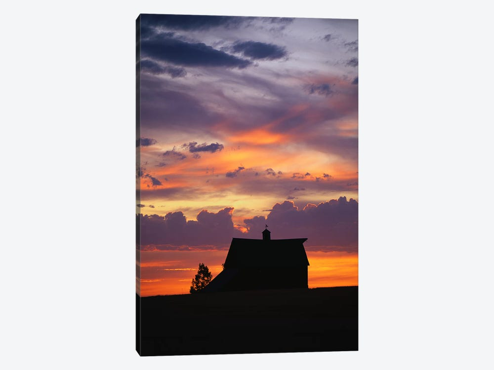 Barn at Sunset by Panoramic Images 1-piece Canvas Wall Art