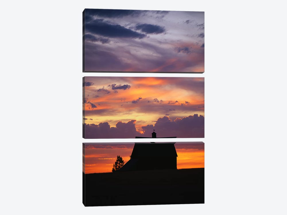 Barn at Sunset by Panoramic Images 3-piece Canvas Wall Art