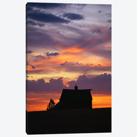 Barn at Sunset Canvas Print #PIM3302} by Panoramic Images Canvas Print