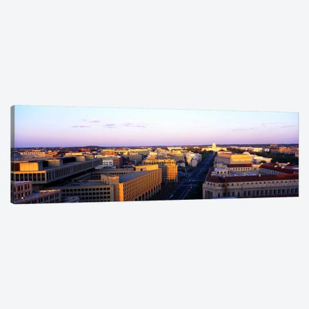 Pennsylvania Ave Washington DC Canvas Print #PIM3304} by Panoramic Images Canvas Artwork