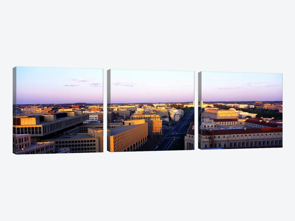 Pennsylvania Ave Washington DC by Panoramic Images 3-piece Canvas Wall Art