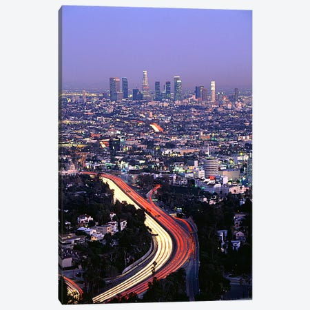 Hollywood Freeway Los Angeles CA Canvas Print #PIM3305} by Panoramic Images Canvas Art