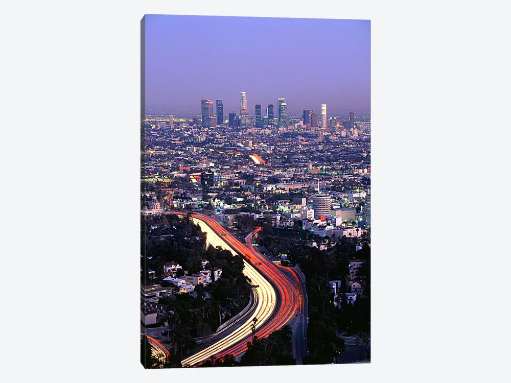 Hollywood Freeway Los Angeles CA by Panoramic Images 1-piece Canvas Art Print