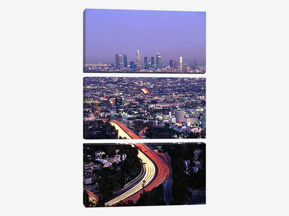 Hollywood Freeway Los Angeles CA by Panoramic Images 3-piece Art Print