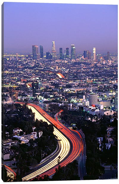 Hollywood Freeway Los Angeles CA Canvas Art Print