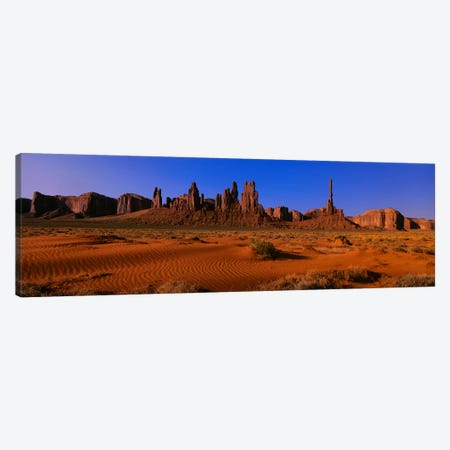 Totem Pole & Yel-Bichel, Monument Valley National Park, Arizona, USA Canvas Print #PIM3307} by Panoramic Images Canvas Art