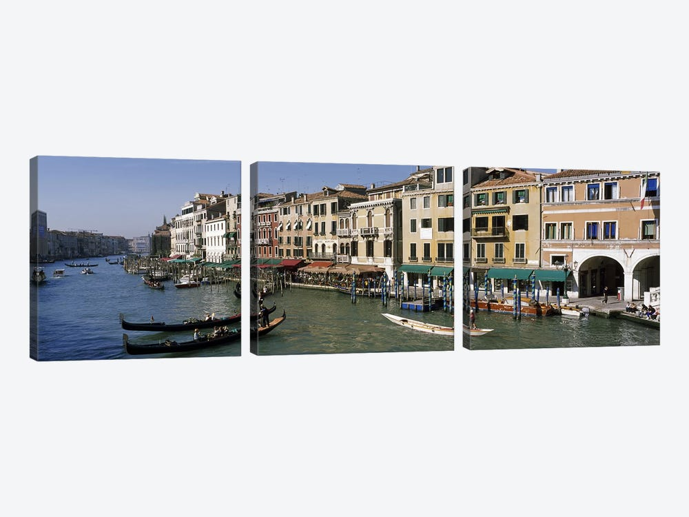 Grand Canal Venice Italy by Panoramic Images 3-piece Canvas Artwork