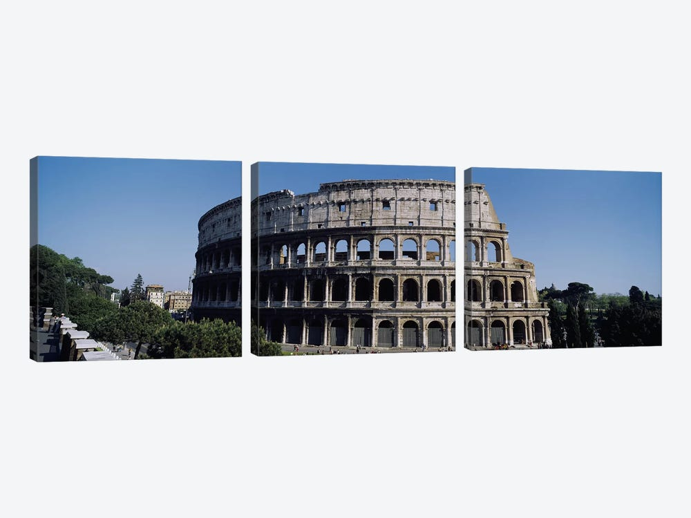 Colosseum (Flavian Amphitheatre), Rome, Lazio Region, Italy by Panoramic Images 3-piece Canvas Art Print