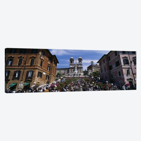 Low angle view of tourist on steps, Spanish Steps, Rome, Italy Canvas Print #PIM3311} by Panoramic Images Canvas Art