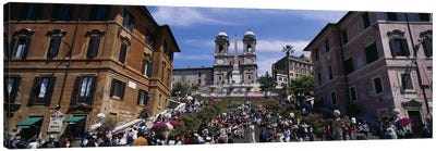 Low angle view of tourist on steps, Spanish Steps, Rome, Italy Canvas Print #PIM3311