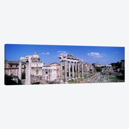 Roman Forum (Forum Romanum), Rome, Lazio Region, Italy Canvas Print #PIM3312} by Panoramic Images Canvas Wall Art