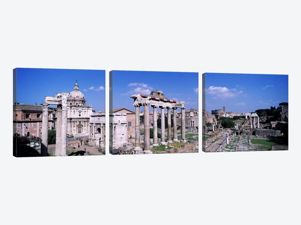 Roman Forum (Forum Romanum), Rome, Lazio Region, Italy by Panoramic Images 3-piece Art Print