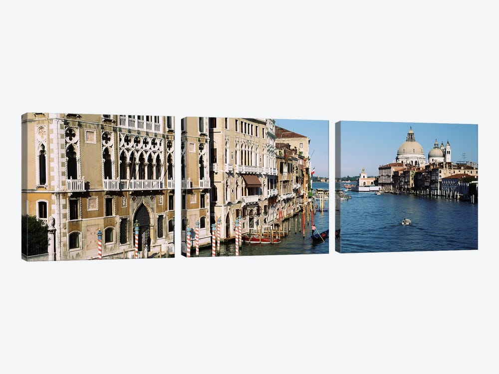 Historic Architecture Along The Grand Canal, Venice, Italy by Panoramic Images 3-piece Canvas Wall Art