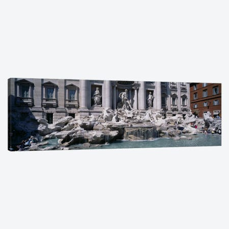 Trevi Fountain, Rome, Lazio, Italy Canvas Print #PIM3316} by Panoramic Images Canvas Art Print