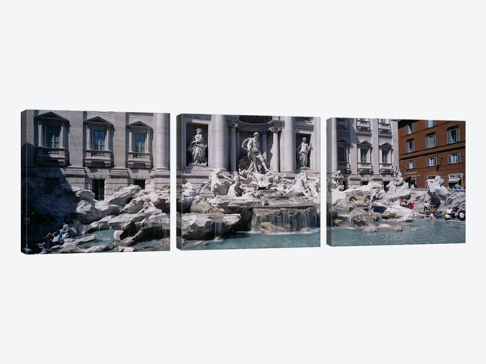 Trevi Fountain, Rome, Lazio, Italy by Panoramic Images 3-piece Art Print