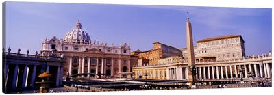 Vatican, St Peters Square, Rome, Italy Canvas Art Print