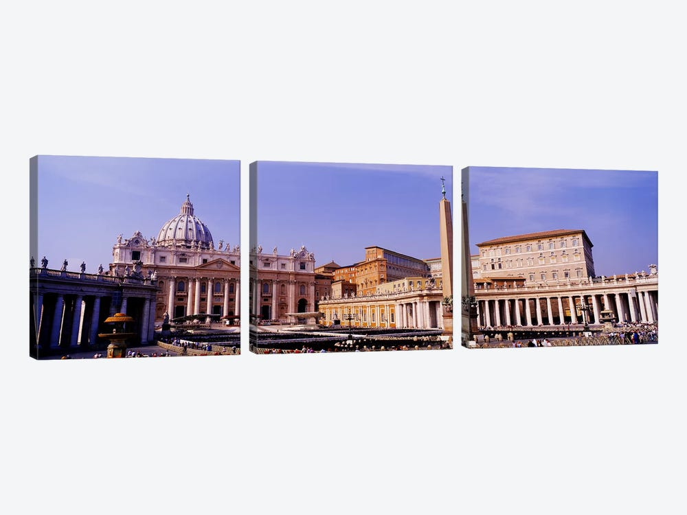 Vatican, St Peters Square, Rome, Italy by Panoramic Images 3-piece Canvas Print