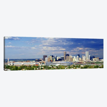 USA, Colorado, Denver, Invesco Stadium, High angle view of the city Canvas Print #PIM3324} by Panoramic Images Canvas Art