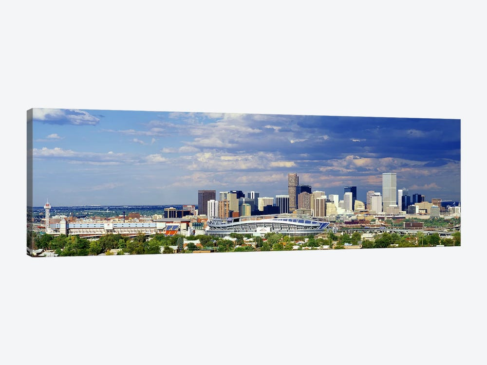 USA, Colorado, Denver, Invesco Stadium, High angle view of the city by Panoramic Images 1-piece Canvas Art