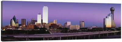 Buildings in a city, Dallas, Texas, USA Canvas Art Print