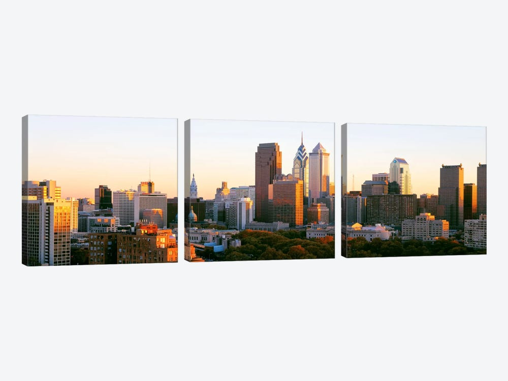 Philadelphia, Pennsylvania, USA #4 by Panoramic Images 3-piece Canvas Art Print