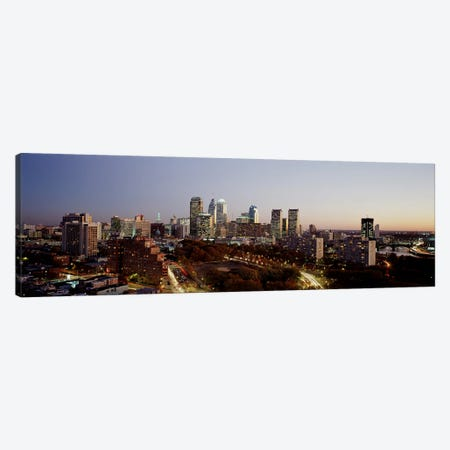 High angle view of a city, Philadelphia, Pennsylvania, USA Canvas Print #PIM3328} by Panoramic Images Art Print