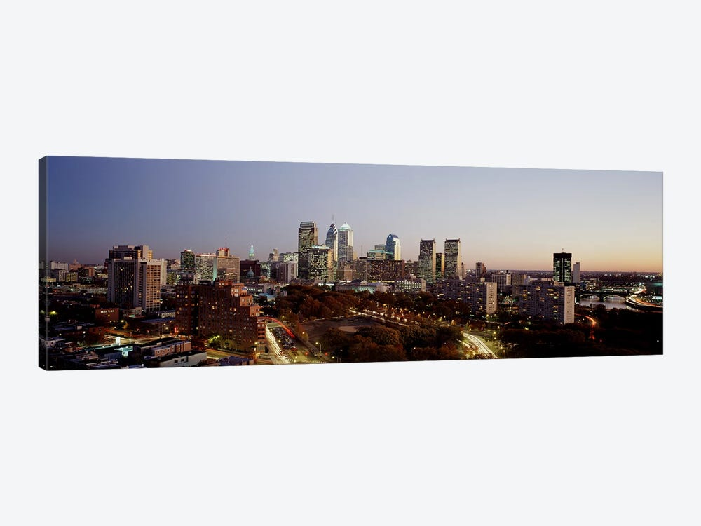 High angle view of a city, Philadelphia, Pennsylvania, USA by Panoramic Images 1-piece Canvas Wall Art