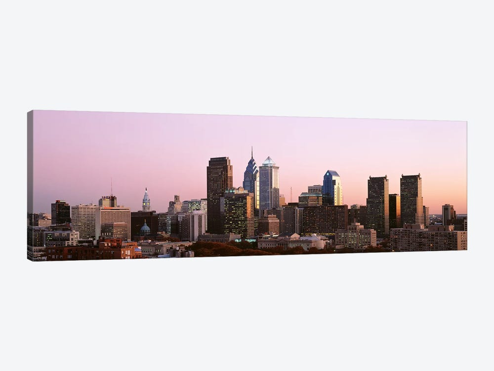 Skyscrapers in a city, Philadelphia, Pennsylvania, USA #2 by Panoramic Images 1-piece Canvas Print
