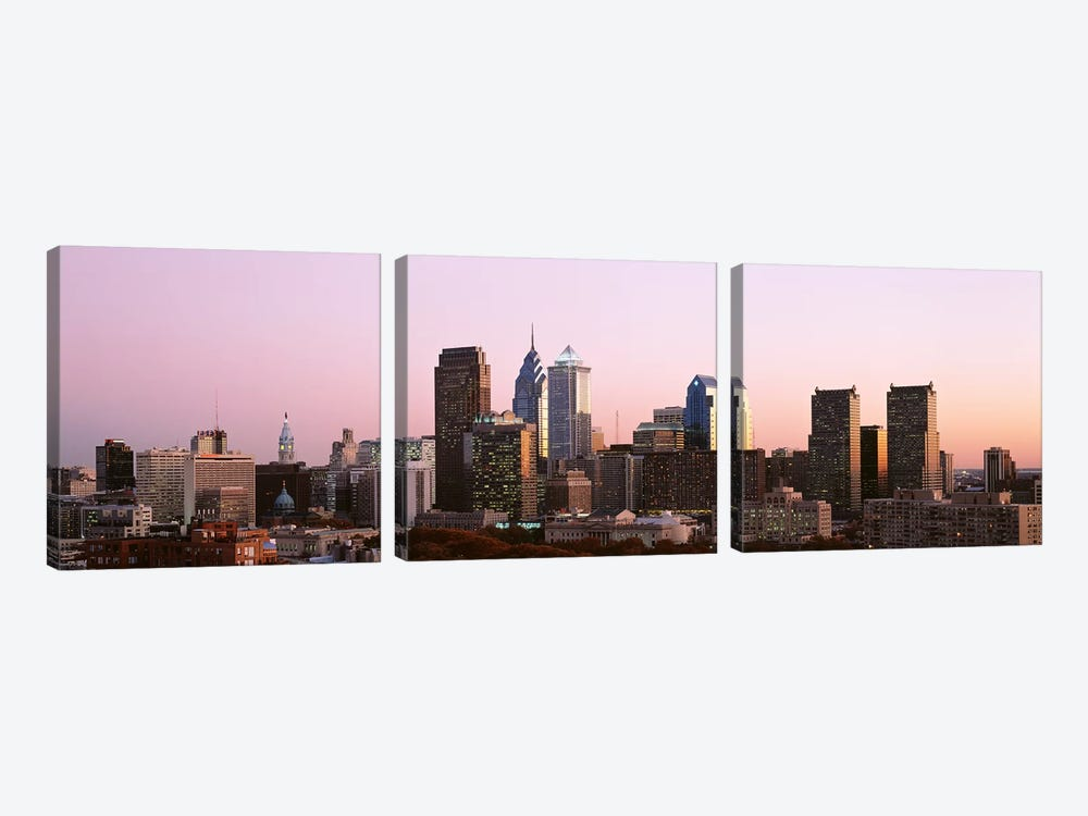 Skyscrapers in a city, Philadelphia, Pennsylvania, USA #2 by Panoramic Images 3-piece Art Print