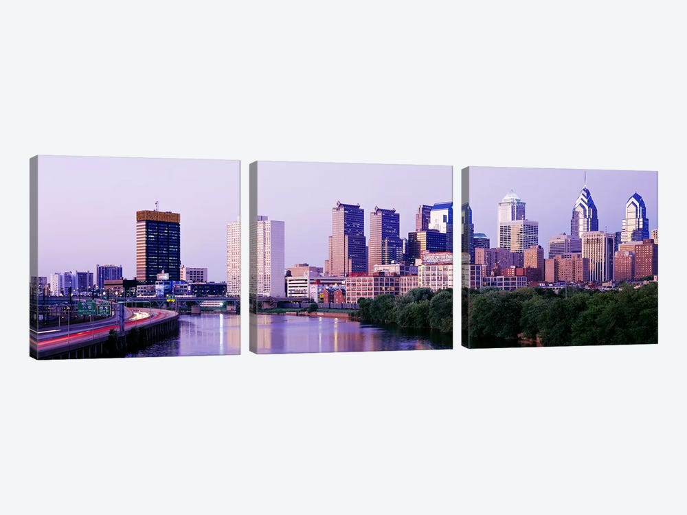 Philadelphia PA #2 by Panoramic Images 3-piece Canvas Wall Art