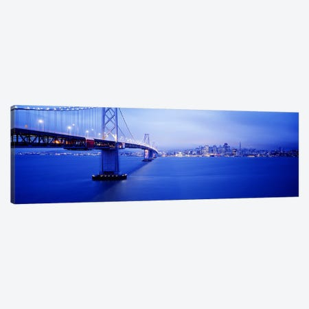 Bay Bridge San Francisco CA Canvas Print #PIM3332} by Panoramic Images Canvas Artwork