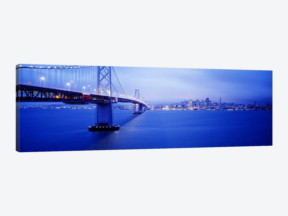 Bay Bridge San Francisco CA by Panoramic Images 1-piece Canvas Print