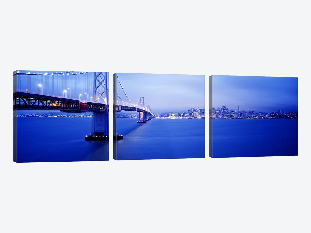 Bay Bridge San Francisco CA by Panoramic Images 3-piece Canvas Print