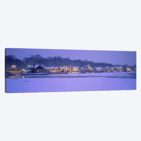 Residential building at the waterfront, Philadelphia, Pennsylvania, USA Canvas Print #PIM3333} by Panoramic Images Canvas Art