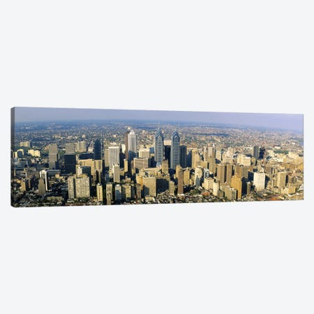Aerial view of skyscrapers in a city, Philadelphia, Pennsylvania, USA Canvas Print #PIM3337} by Panoramic Images Canvas Art Print