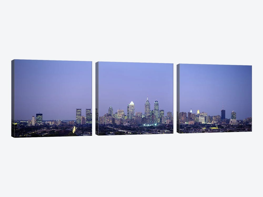 Buildings in a city, Philadelphia, Pennsylvania, USA by Panoramic Images 3-piece Canvas Print