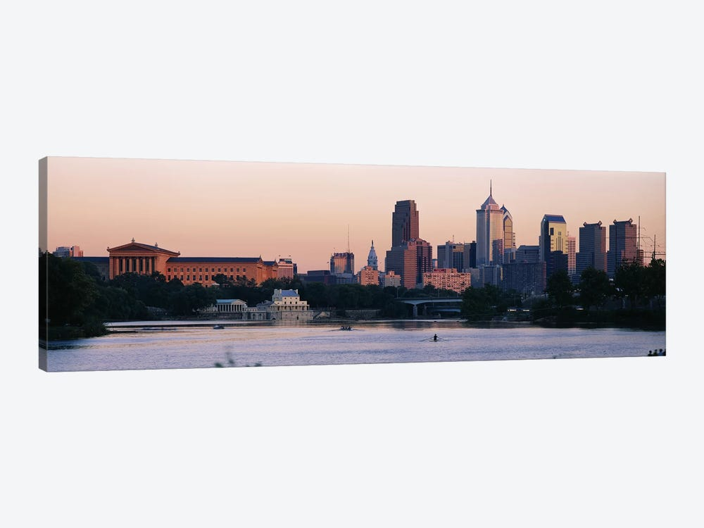 Buildings on the waterfront, Philadelphia, Pennsylvania, USA by Panoramic Images 1-piece Canvas Wall Art