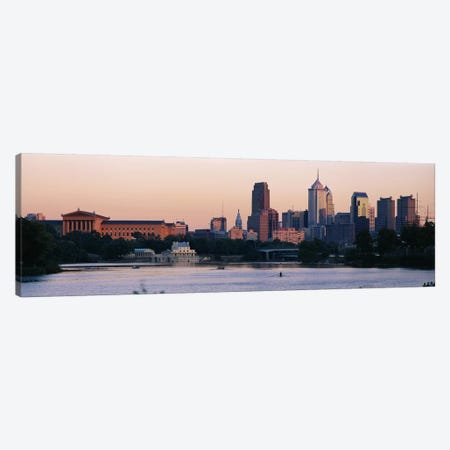 Buildings on the waterfront, Philadelphia, Pennsylvania, USA Canvas Print #PIM3339} by Panoramic Images Canvas Wall Art