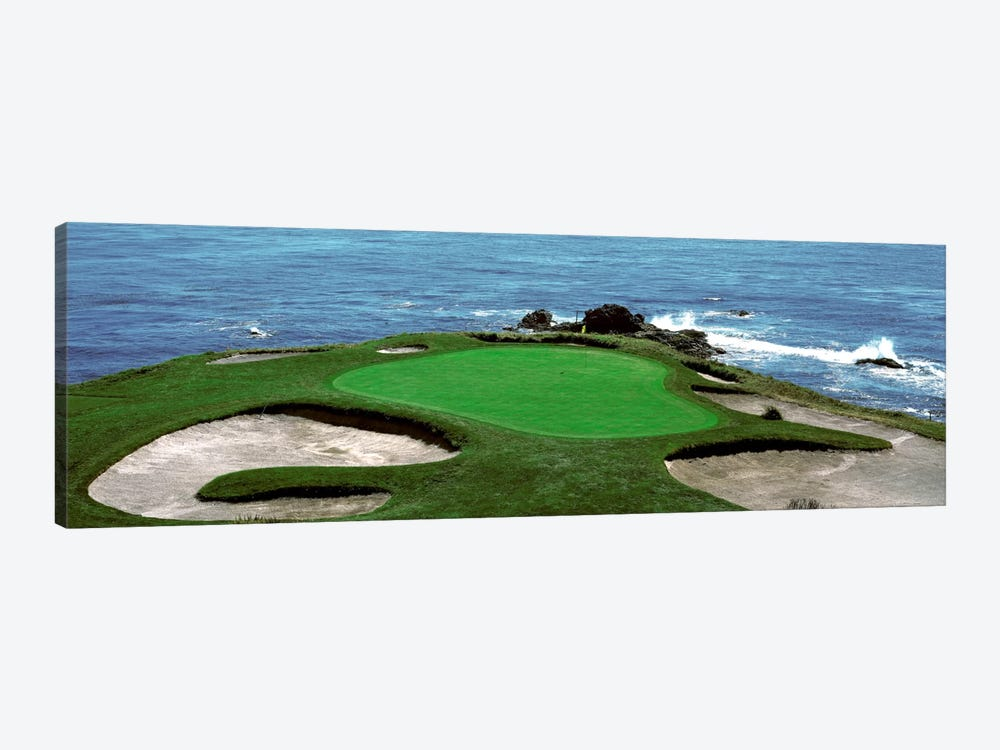 Pebble Beach Golf Course 8th Green Carmel CA by Panoramic Images 1-piece Canvas Artwork