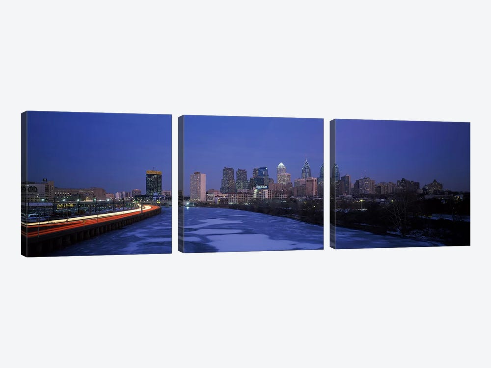 Buildings in a city, Philadelphia, Pennsylvania, USA #2 by Panoramic Images 3-piece Canvas Artwork