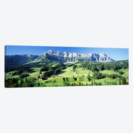 Mountainside Farmland, Upper Emmantel, Switzerland Canvas Print #PIM3341} by Panoramic Images Canvas Print