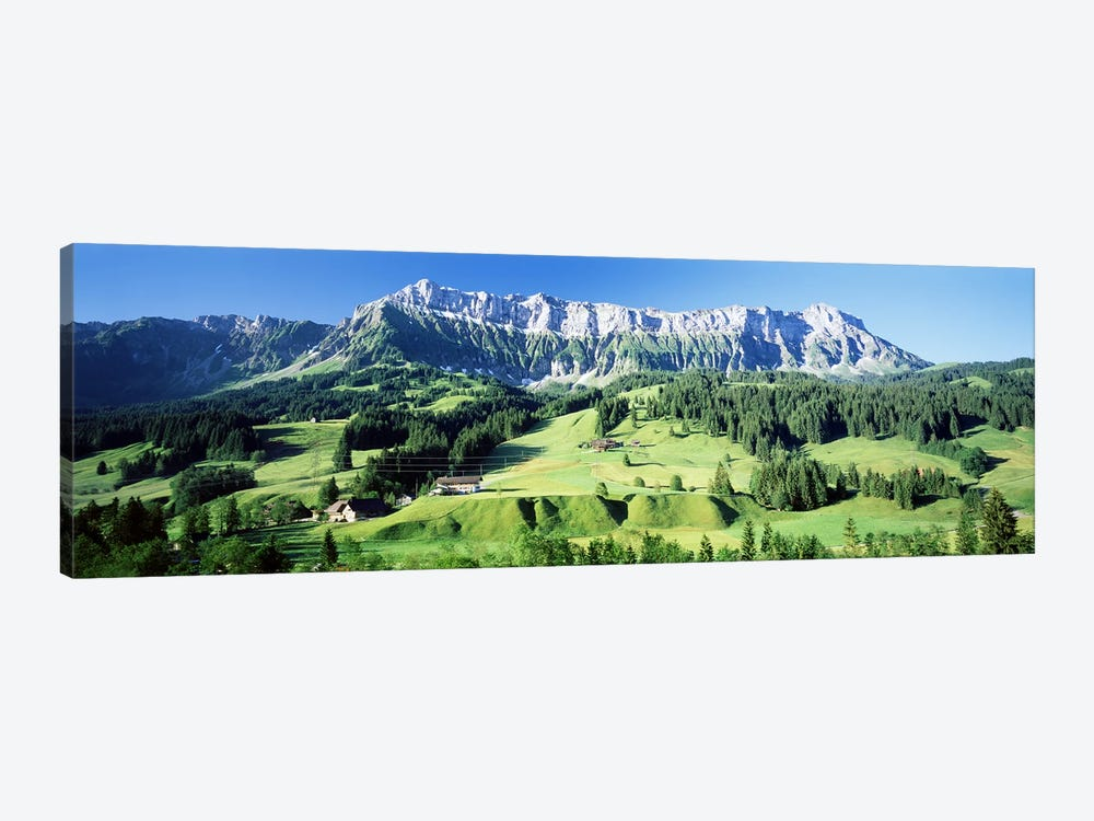Mountainside Farmland, Upper Emmantel, Switzerland by Panoramic Images 1-piece Canvas Art Print