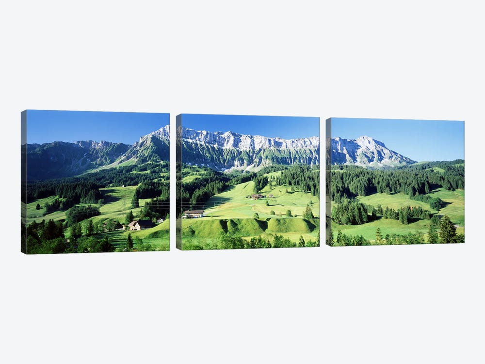 Mountainside Farmland, Upper Emmantel, Switzerland by Panoramic Images 3-piece Art Print