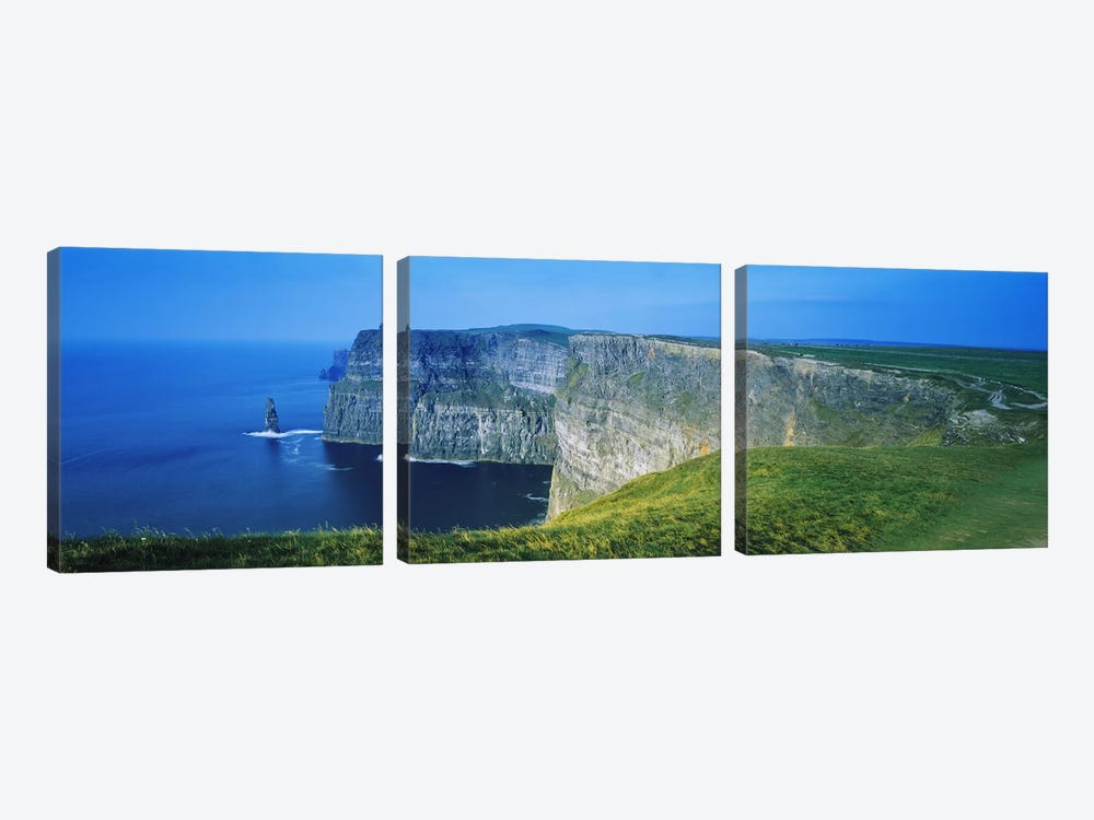 Cliffs Of Moher, County Clare, Republic Of Ireland by Panoramic Images 3-piece Canvas Art Print