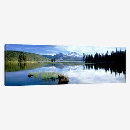Cascade Mountains, Oregon, USA Canvas Print #PIM3346} by Panoramic Images Canvas Wall Art