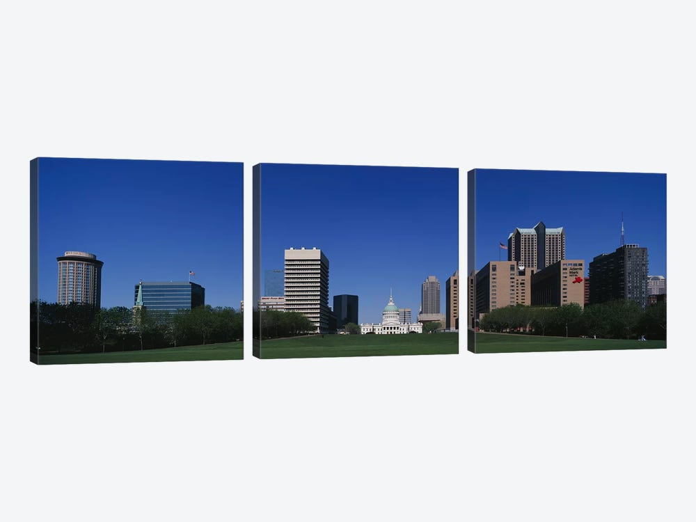 Buildings in a city, St Louis, Missouri, USA by Panoramic Images 3-piece Canvas Print