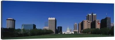Buildings in a city, St Louis, Missouri, USA Canvas Art Print