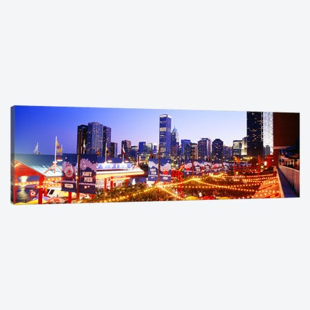 Navy Pier Chicago IL Canvas Print #PIM3349} by Panoramic Images Art Print